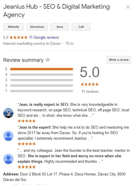 Jeanius SEO Services Review