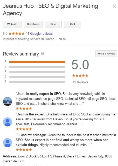 Jeanius SEO Services Review