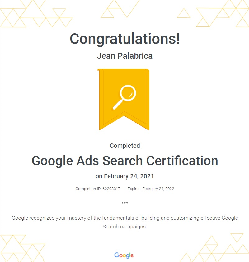 Jean Diaz Palabrica : The Certified Digital Marketer in Davao City, Philippines 1